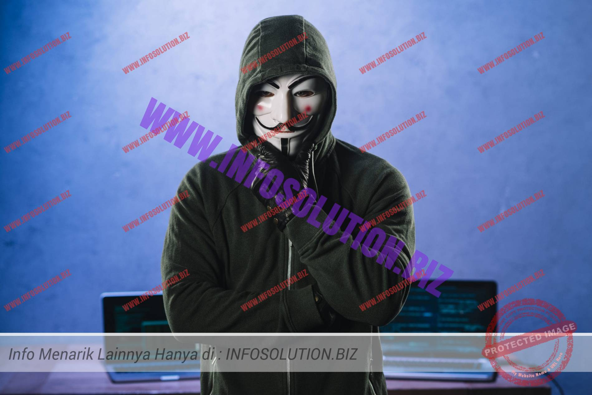 Hacker with anonymous mask Free Photo