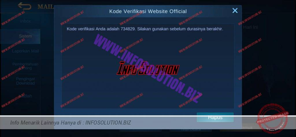 mobile legends bang bang kode konfirmasi