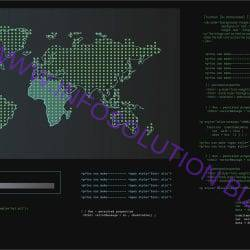 Illustration of computer hacking code Free Vector