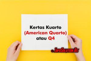 Kertas Kuarto (American Quarto)