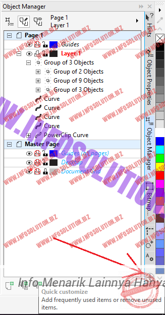 Object Manager CorelDraw