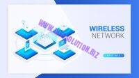 Isometric wireless network landing page Free Vector