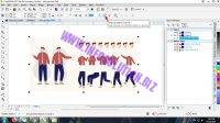 Melakukan ungroup objects file eps corel draw