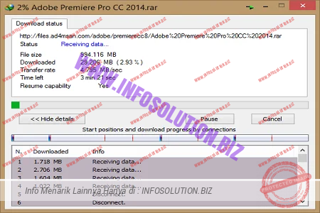 Download status IDM with proxy