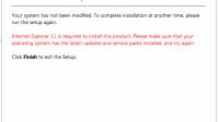 Install Error Internet Explorer 11 di CorelDRAW